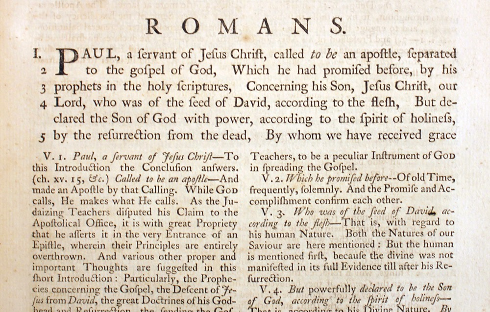 John Wesley, Explanatory Notes upon the New Testament, 1757