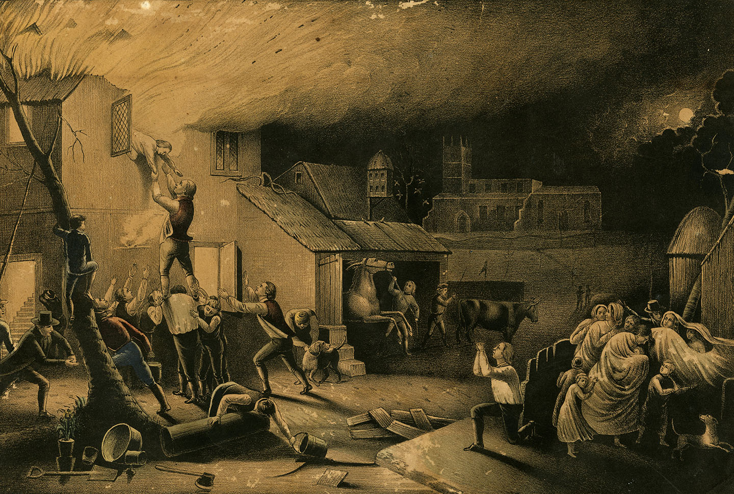 Providential Deliverance of John Wesley from Fire, Feb. 9th 1709. 1850