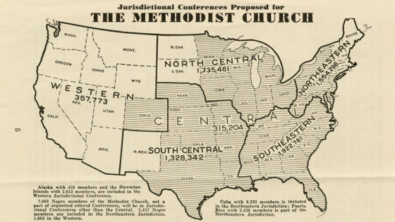 Jurisdictional Conferences Proposed for the Methodist Church
