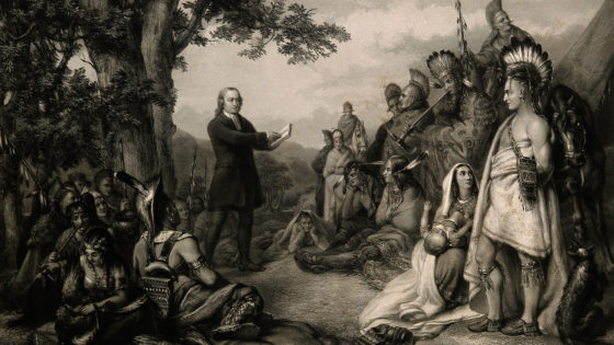 John Wesley Preaching to Native American Indians