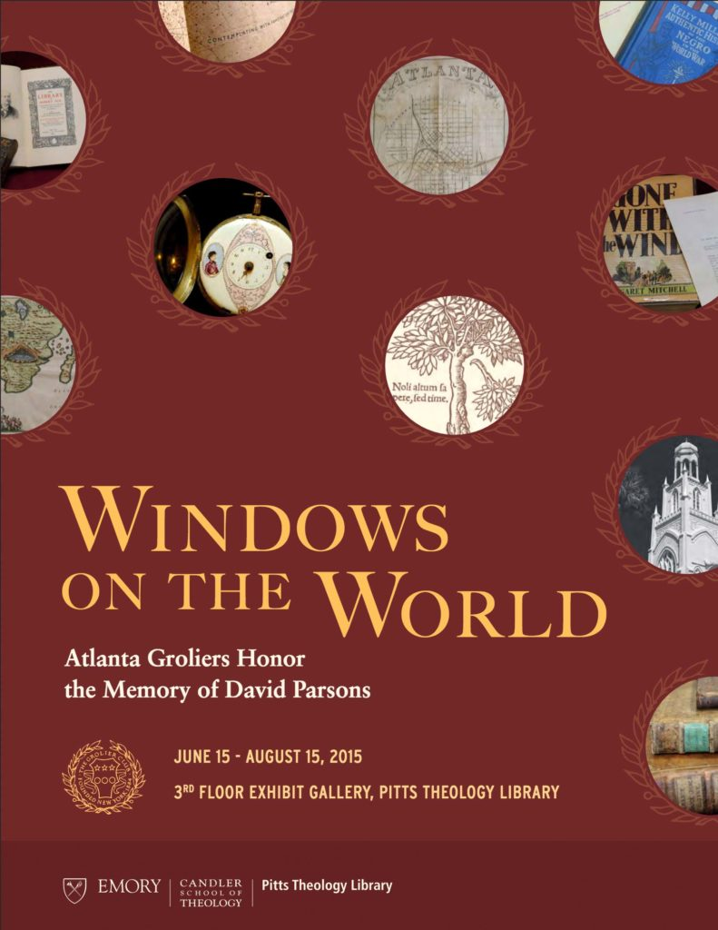Windows on the World: Atlanta Groliers Honor the Memory of David Parsons