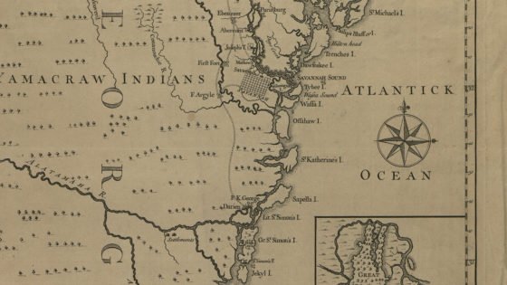 Map of Georgia and Part of Carolina (1741)